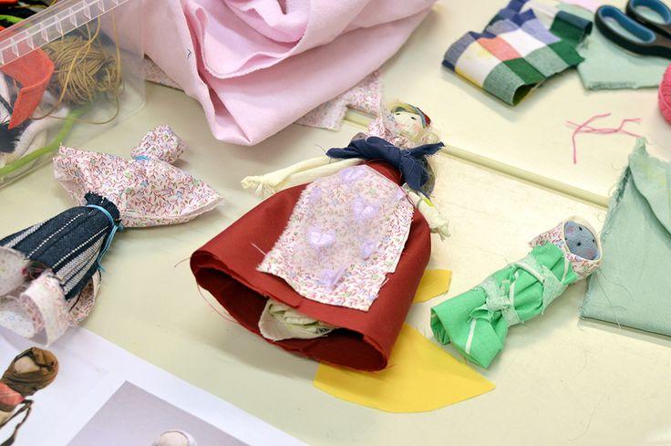 Pohjois-Pohjanmaan museossa valmistettujen räsynukkien malliet löytyvät historiasta.