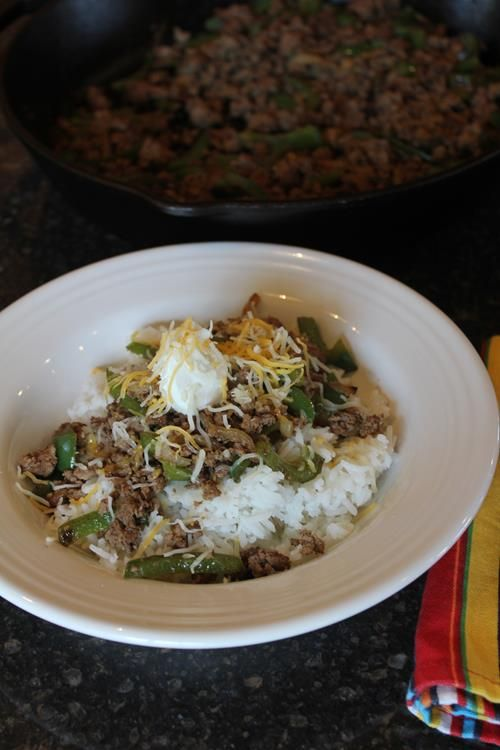 188 best quick and easy dinner ideas images on pinterest adventure this ground beef fajita bowl has the flavors of fajitas in a simple rice bowl they are a quick and easy dinner to make using basic ingredients forumfinder Image collections
