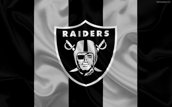 Descargar fondos de pantalla Los Oakland Raiders, fútbol Americano, logotipo, emblema, la Liga Nacional de Fútbol americano, NFL, de Oakland, California, estados UNIDOS