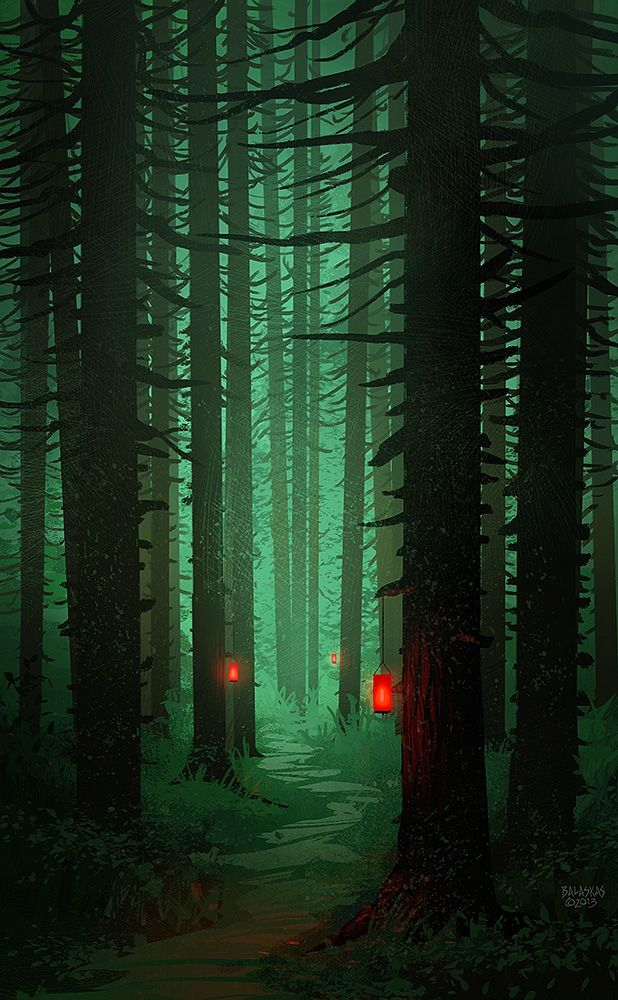 They hadn't known what awakened them, even called them outside. Puzzled, they saw the path illuminated before them with red lanterns....