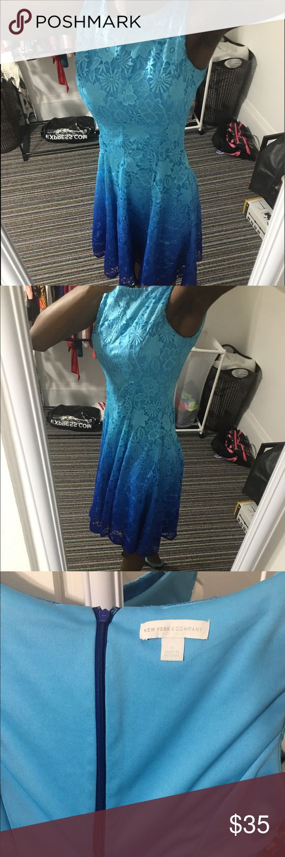 A midi length dress. This is one of my favorite dress. I wore this dress couple of time last year and the dress is still in an excellent condition. New York & Company Dresses Midi