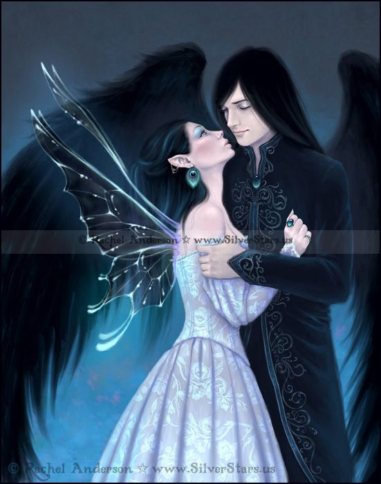 Sapphire Fairy and Angel ~ Gothic Romance Artwork by Rachel Anderson http://silverstars.us