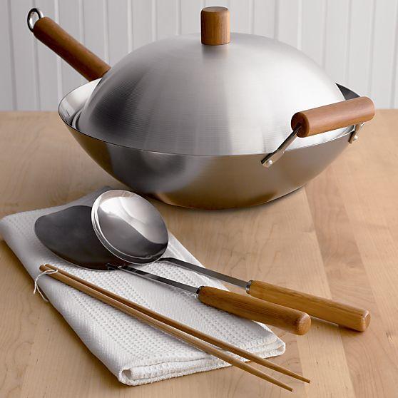 Wok Set in Top Cookware, Bakeware | Crate and Barrel