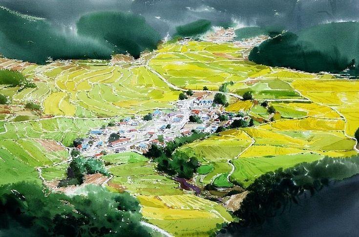 landscape by Jong Sik Shin