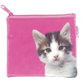 Catseye portemonnee roze kat - Kinderkleding Zazou