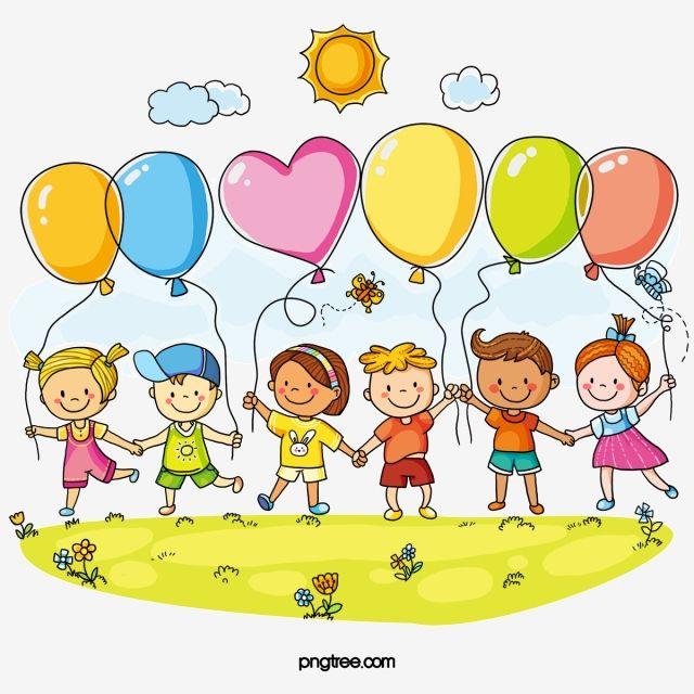 الأطفال والبالونات Art Drawings For Kids Drawing For Kids Easy Drawings For Kids