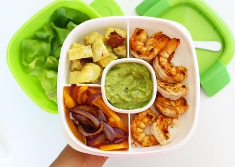 """Looking for a fresh new lunch idea? Look no further! These """"Make Your Own"""" shrimp tacos are just what you need."""