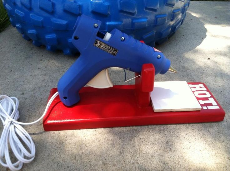 Pinterest Hot Glue Gun Holder