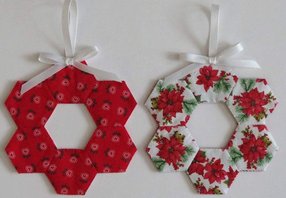 Two 2 Christmas Tree Ornaments Decorations English by MiniMade