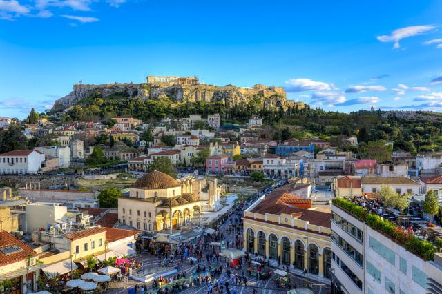 (shutterstock) Where To Go In August: Athens, Greece (Athens  tends to empty in August as locals and visitors alike flock to the Greek islands. Stroll through the beautiful historic city and take in the ancient monuments such as The Parthenon and The Acropolis. Temperatures in August range between 25 and 35 degrees, so be sure to book a hotel room with air conditioning!)