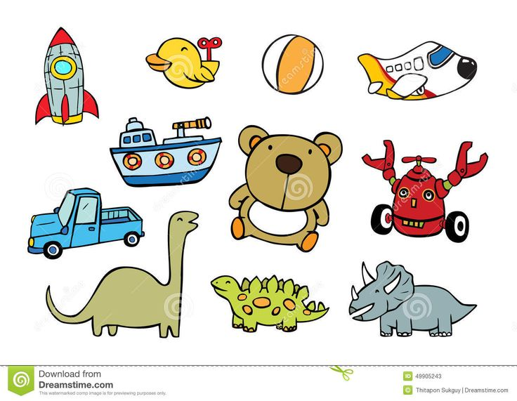 Toys vector illustration cartoon child