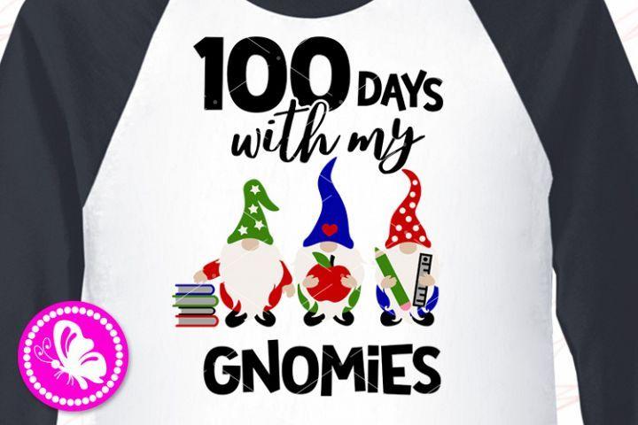 Download 100 days with my gnomies Gnomes svg Teacher shirt School ...
