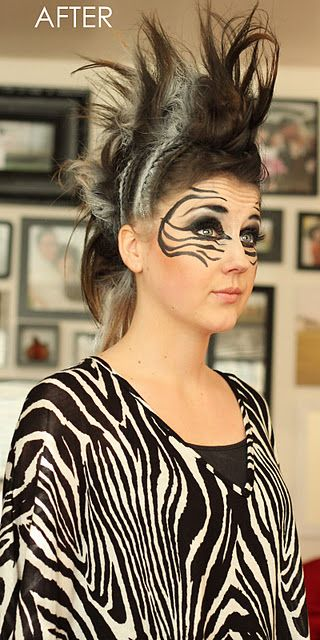 Zebra face paint for Sarah's Halloween! I will do it mother!
