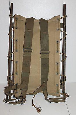 Scarce Ww2 U S Army Yukon Canvas Packboard Complete With