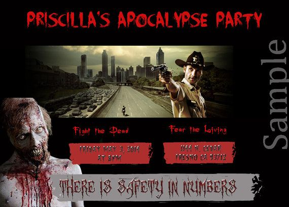 Walking dead birthday invitations printable 17 best images about walking dead party on pinterest filmwisefo