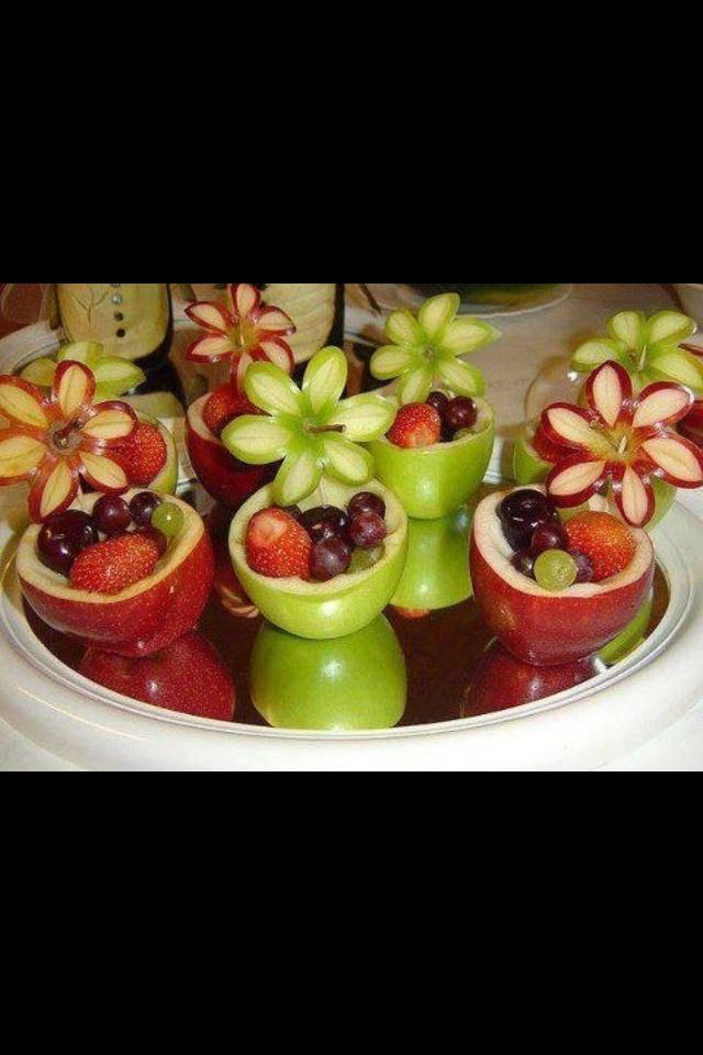Creative fruit cups.