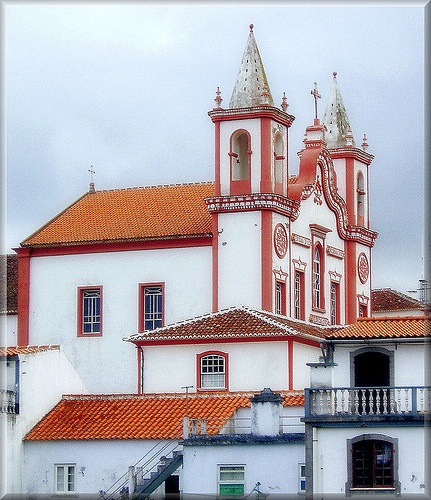 Portugal Azores Terceira Praia da Vitoria, the church my husband was baptized in.