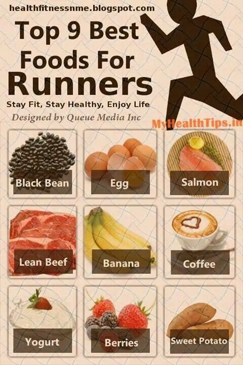 Top 9 Best Foods For Runners, don't know why coffee is on here...oh well!