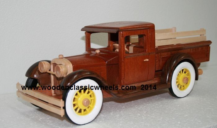 Handmade one of a kind wooden model replica
