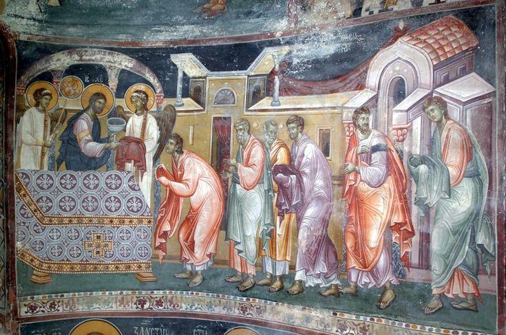 причешће апостола, краљева црква, студеница, XIV столеће