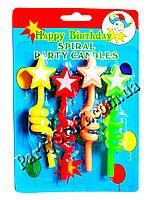 Свечи на торт Спираль толстые со звездочкой #свечи_для_торта #украшение_торта #день_рождения #Cake_candles #cake_Decoration #яркие_свечи_для_торта #Birthday #свечи_для_детского_торта