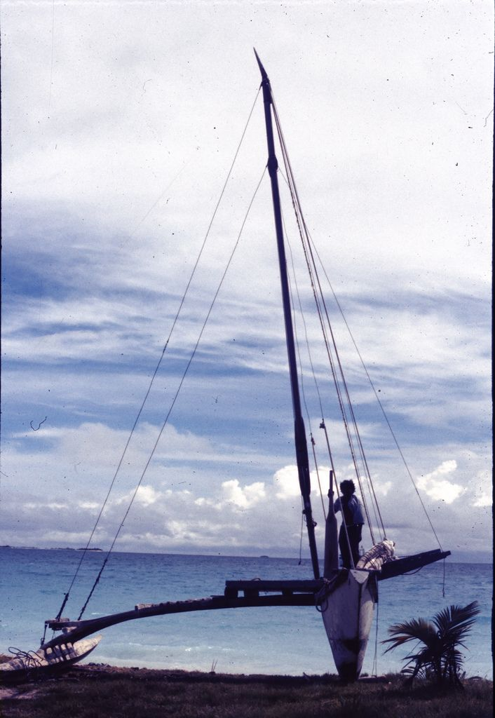 Outrigger canoe, Wotho Atoll, Marshall Islands