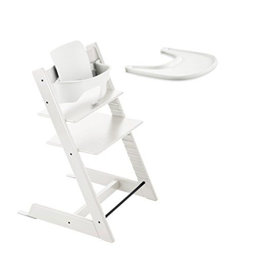 Stokke TRIPP TRAPP with Baby Set and Tray – White  http://www.babystoreshop.com/stokke-tripp-trapp-with-baby-set-and-tray-white/