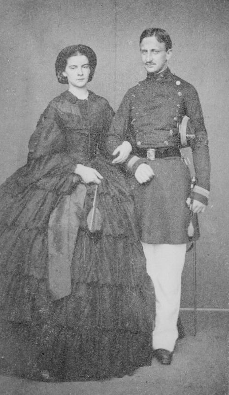 King Francesco and Queen Maria Sofia of Two-Sicilies. Marie was born a princess of Bavaria and was a younger sister to Empress Elisabeth of Austria.