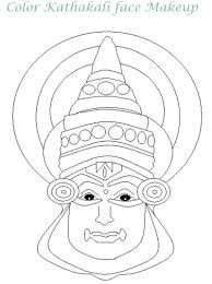 kathakali face pencil sketch - Google Search