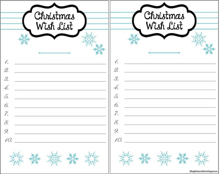 ... Christmas Wish List Paper Nfgaccountability   Christmas Wish List  Printable ...