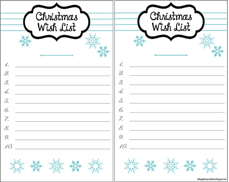 31 Best images about Freebies – Christmas Wish List Printable