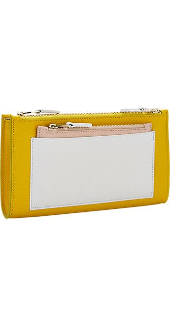 Smythson Panama Colorblock Multi-Zip Wallet -  - Barneys.com