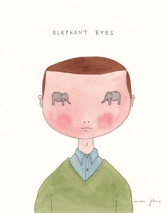 elephant eyes - marc johns