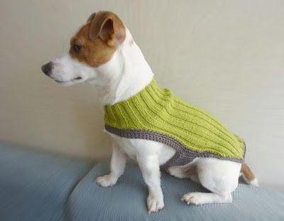 TRICO y CROCHET-madona-mía: Como hacer ropa para perros a crochet/tricot buscar en el la guía del blogger mas modelos en-Trajes para perros ( cachorro)