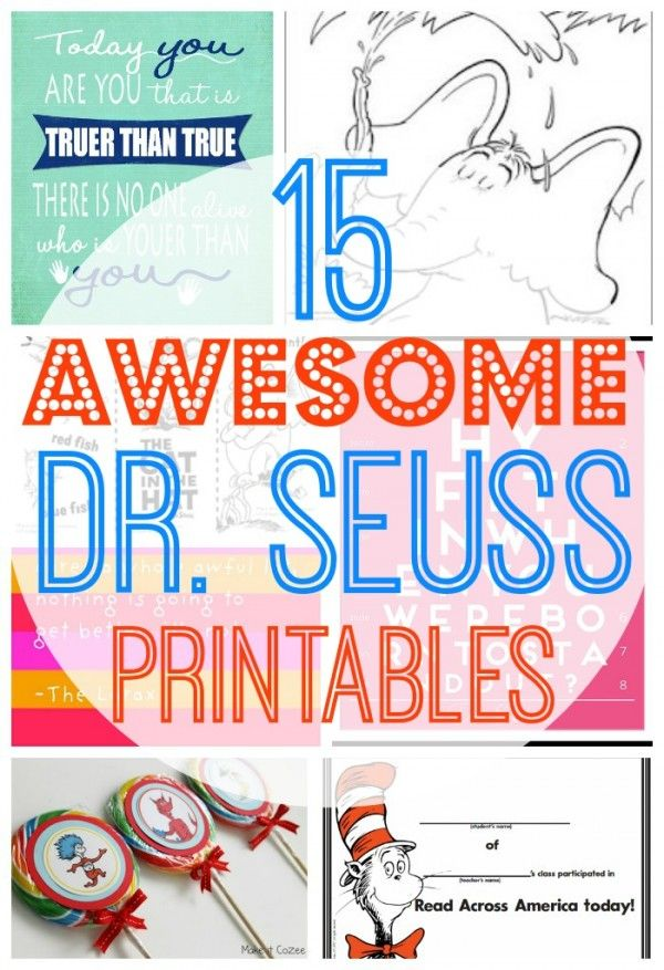 15 AWESOME Free Dr Seuss Printables