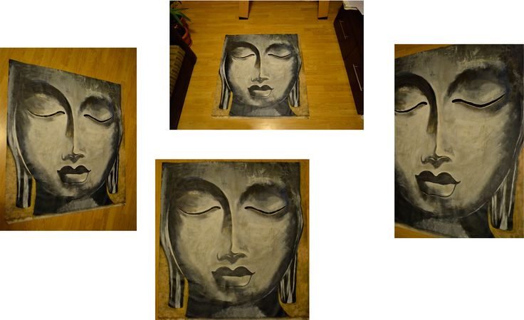 Acrylic on canvas Buddha 2012 Size: 100×105 cm
