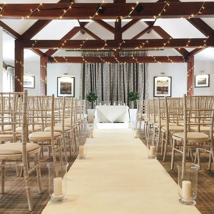 Wedding ceremony styling aisle runner fairy lights