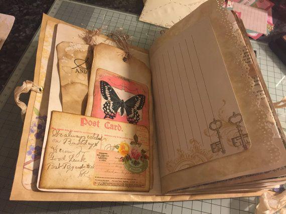 Vintage journal Handmade video in by MyCraftilittlecorner on Etsy