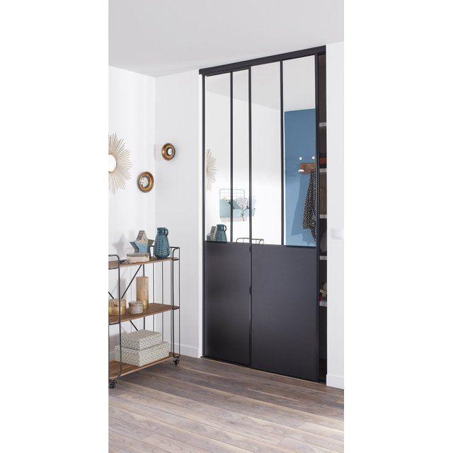 Lot De 2 Portes De Placard Coulissante Miroir Noir L 120 X H 250 Cm In 2020 Home Home Decor Interior