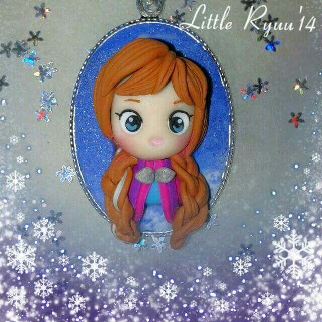 Disney Frozen Anna fimo cameo