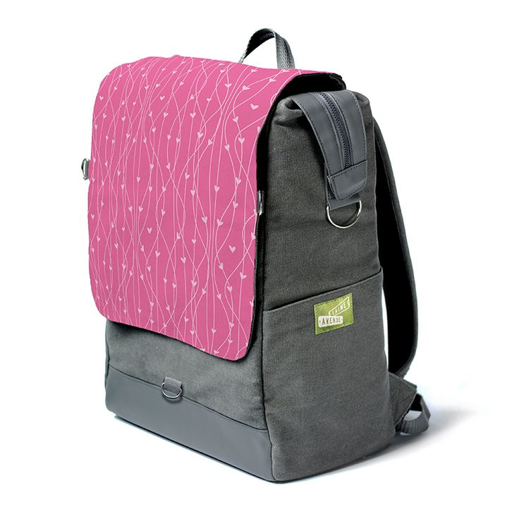 We berry much love this one. You are looking at the most unique backpack on the whole entire planet. Really. It's roomy. It holds all your stuff with our widemouth zip top. It protects your laptop or tablet with a padded sleeve, and best of all, The Crossbody Convertible Flap zips off to become a purse, (with the included cross body strap) for when you need just a few of your favorite things things and not all your stuff.