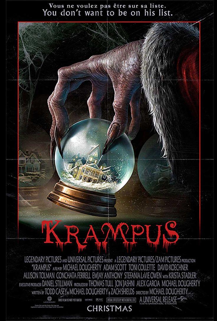 Krampus - Film avec Adam Scott, Toni Collette, David Koechner. Le démon à cornes vient punir un enfant qui refuse de fêter Noël, sa famille est en danger.