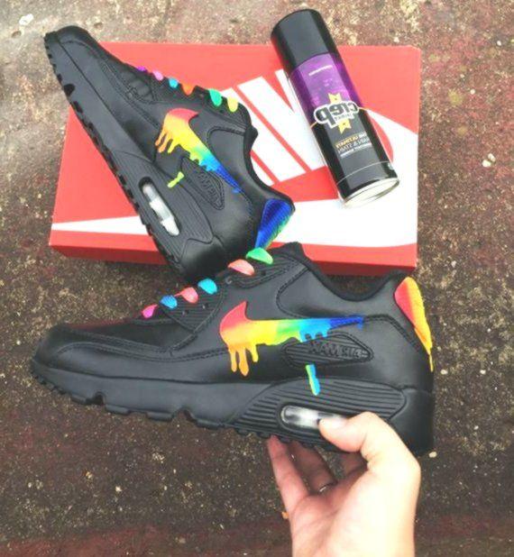 Rainbow drippy nike air max 90 | Nike