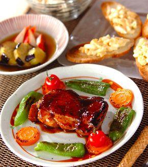 鶏肉の梅照り焼き」の献立・レシピ - 【E・レシピ】料理のプロが作る ... 鶏肉の梅照り焼きの献立
