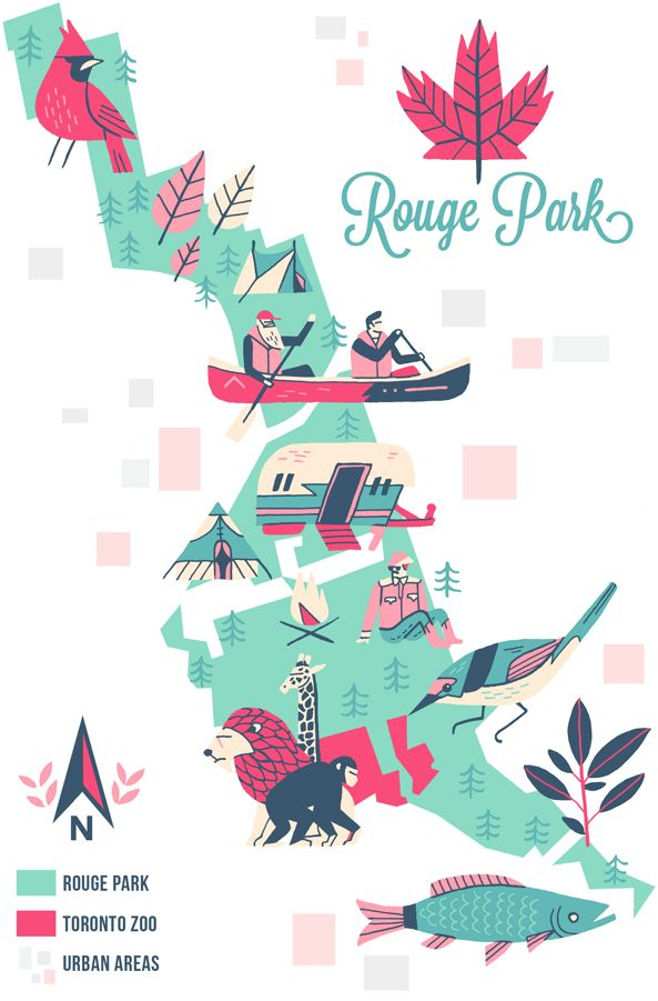 Toronto parks map