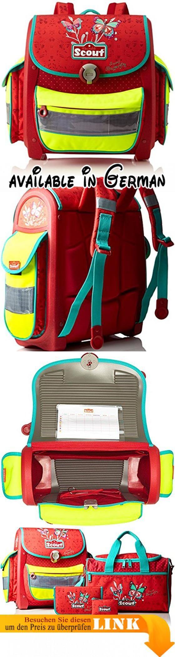 Scout - Buddy - Schulranzen Set 4 tlg. - Sweet Butterfly. Schule-Set aus hochwertigen Materialien gefertigt.. Rucksack ist ergonomisch geformte Rücken.. Rucksack ist speziell mit einem Schwerpunkt auf die Sicherheit der Kinder konzipiert. #Koffer, Rucksäcke & Taschen #LUGGAGE