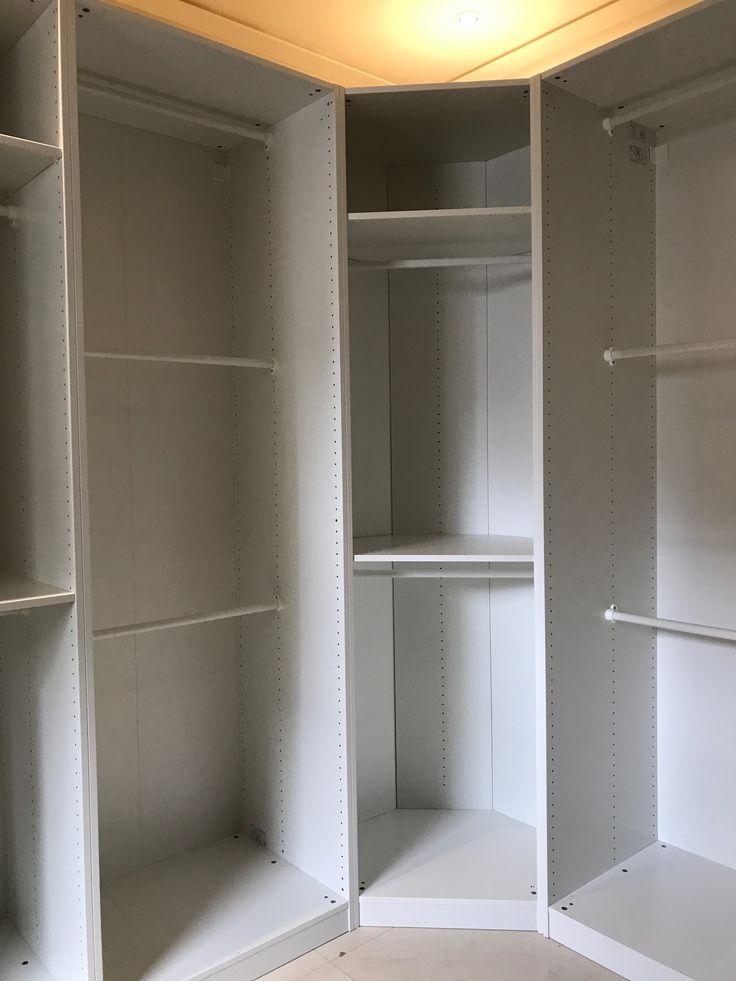 理想的更衣室,可以收納及陳列許多喜歡的衣服,皮包