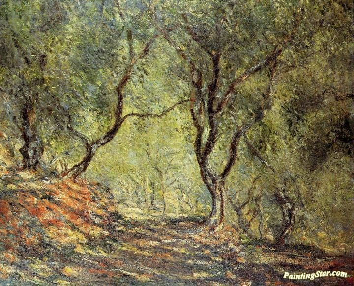 The Olive Tree Wood in the Moreno Garden Artwork by Claude Oscar Monet Hand-painted and Art Prints on canvas for sale,you can custom the size and frame