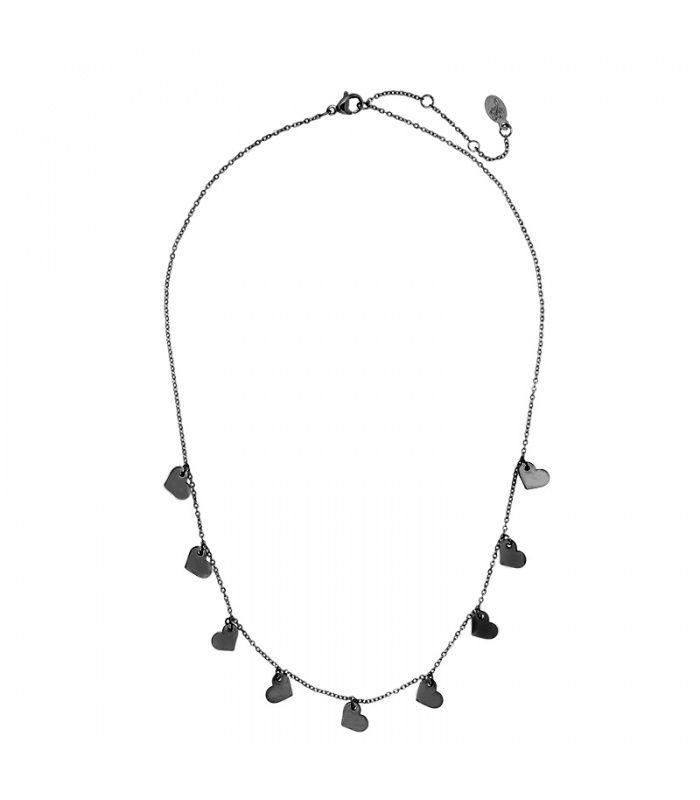 Zwarte fijne halsketting met hangers fijne halsketting koop je online   Yehwang fashion en sieraden