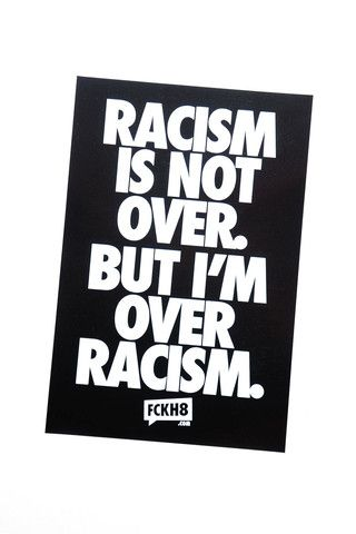 Anti-Racism Bumper Sticker                                                                                                                                                                                 More